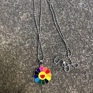 Murakami Rainbow Flower Necklace